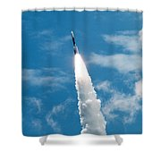 Delta Rocket From Cape Canaveral In Florida Shower Curtain