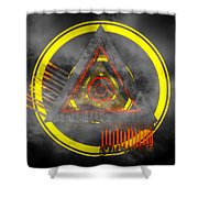 Delta Tunnel - Cg Abstract Render Shower Curtain