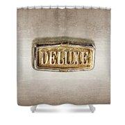 Deluxe Chrome Emblem Shower Curtain