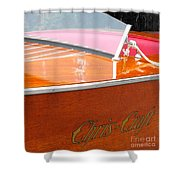 Chris Craft Deluxe Shower Curtain