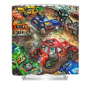 Demo Derby One Shower Curtain