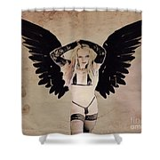 Demon Girl By Mb Shower Curtain