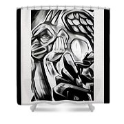Demon In The Sky Shower Curtain