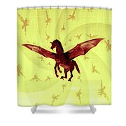 Demon Winged Horse Shower Curtain