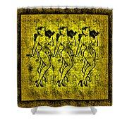 Demonios De Oro Shower Curtain