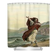 Demosthenes, 384-322 B.c. Shower Curtain