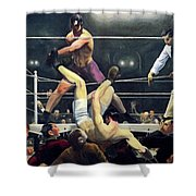 Dempsey And Firpo  Shower Curtain