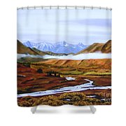Denali Autumn Shower Curtain