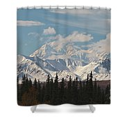 Denali In Broad Pass Shower Curtain by Donna Quante