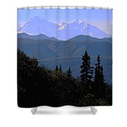 Denali Mountain Shower Curtain