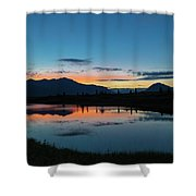 Denali Reflection Lake Shower Curtain