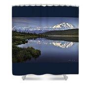 Denali Wonder Lake Shower Curtain