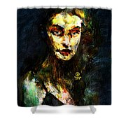 Denebris Impression Portrait 672 Shower Curtain