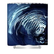 Denim And Light  Abstract 1 Shower Curtain