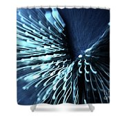 Denim And Light  Abstract 2 Shower Curtain