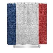 Denim France Flag Illustration Shower Curtain