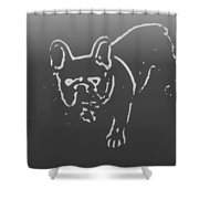 Butterfly The Frenchie Shower Curtain
