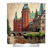 Denmark, Castle, Romance Of The Middle Ages Poster Shower Curtain