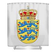 Denmark Coat Of Arms Shower Curtain