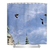 Denmark, Copenhagen, Amager Torv, Shoes Shower Curtain