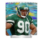 Dennis Byrd Shower Curtain