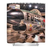 Dennis The Menace, North American F-86d Sabre Shower Curtain