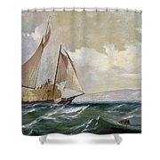 Denny: Hay Schooner, 1871 Shower Curtain