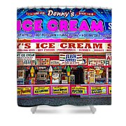 Dennys Ice Cream Shop Shower Curtain
