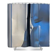 Dented Steel Sheet Shower Curtain