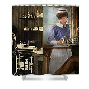 Dentist - An Incisive Decision - 1917 - Side By Side Shower Curtain