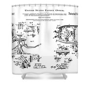 Dentists Chair Patent 1892 Shower Curtain