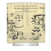 Dentists Chair Patent 1892 In Sepia Shower Curtain