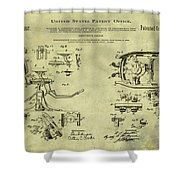 Dentists Chair Patent 1892 In Vintage  Shower Curtain
