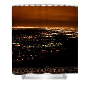 Denver Area At Night From Lookout Mountain Shower Curtain