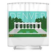 Denver Cheesman Park/lt Blue Shower Curtain by Sam Brennan