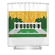 Denver Cheesman Park/gold Shower Curtain by Sam Brennan
