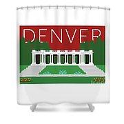 Denver Cheesman Park/maroon Shower Curtain by Sam Brennan