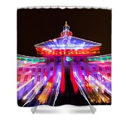 Denver City And County Building Lights Shower Curtain