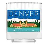 Denver City Park Shower Curtain by Sam Brennan