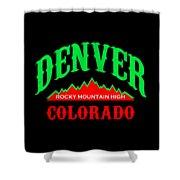 Denver Colorado Rocky Mountain Design Shower Curtain