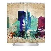 Denver Colorado Vintage Skyline Shower Curtain