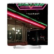 Denver Diner Shower Curtain