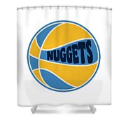 Denver Nuggets Retro Shirt Shower Curtain