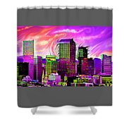 Denver Skyline Shower Curtain