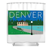 Denver Washington Park Shower Curtain by Sam Brennan