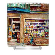 Depanneur St.viateur Shower Curtain