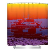 Departing Ferry 2 Shower Curtain