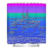 Departing Ferry Shower Curtain