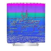 Departing Ferry Shower Curtain by Tim Allen