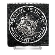 Department Of The Navy Emblem Polished Granite Shower Curtain